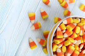 Homemade Halloween candy corn