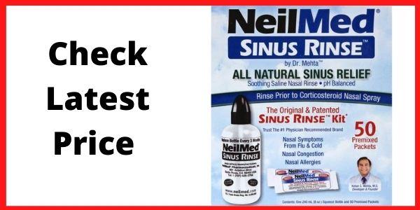 NeilMed 100 Sinus Rinse - A Complete Sinus Nasal Rinse Kit, 50 packets